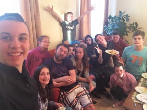 Elise with Tapolca youth group