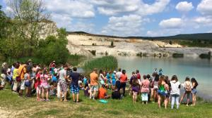 Tap crowd at baptism