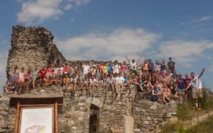 Tapolca team on castle