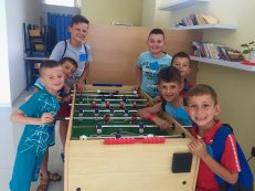 Kids week foosball pic