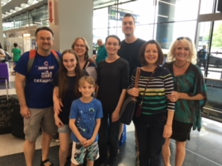 Kids Week Team Pic at airport